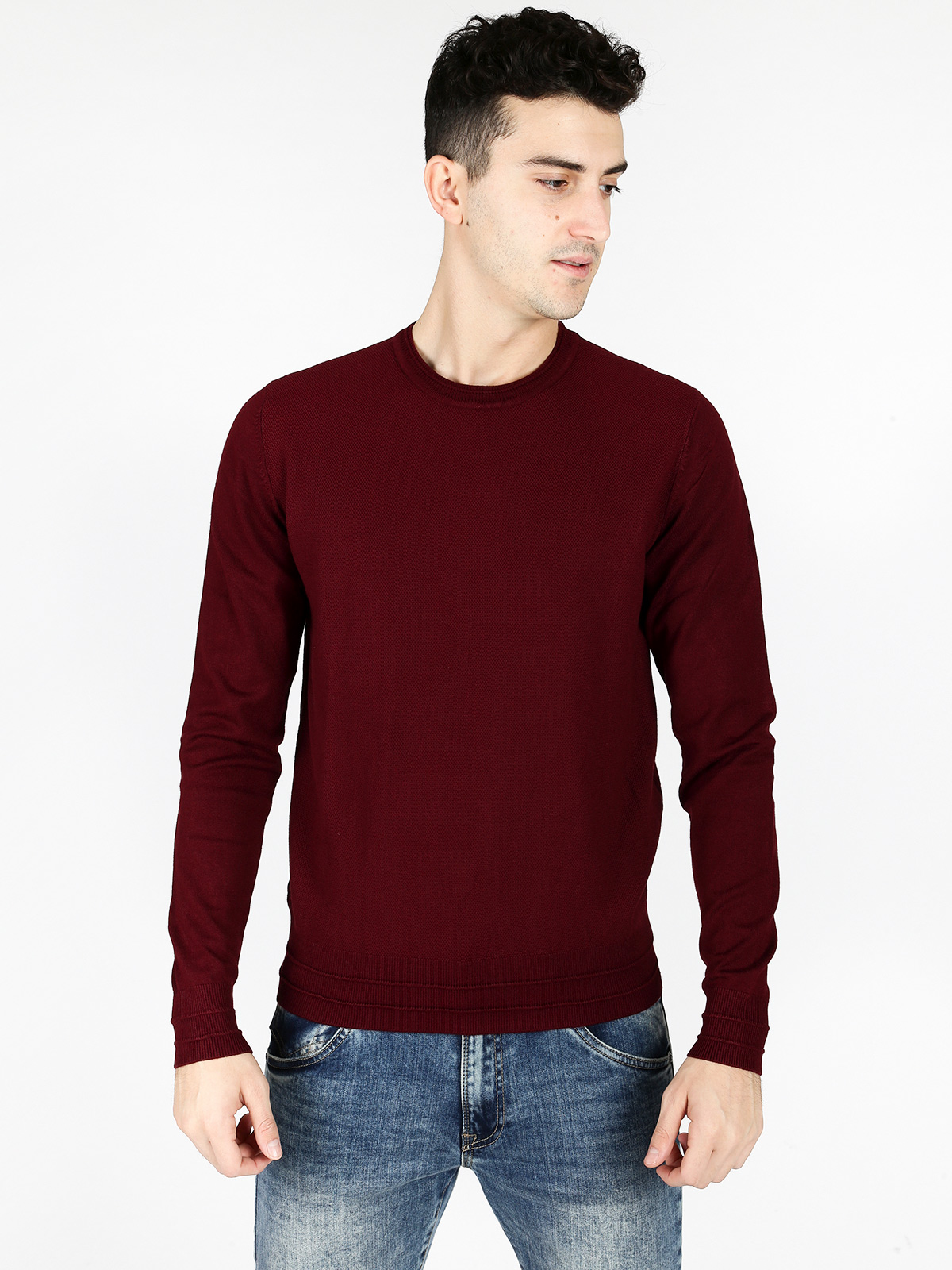 Round Neck Sweater Heather