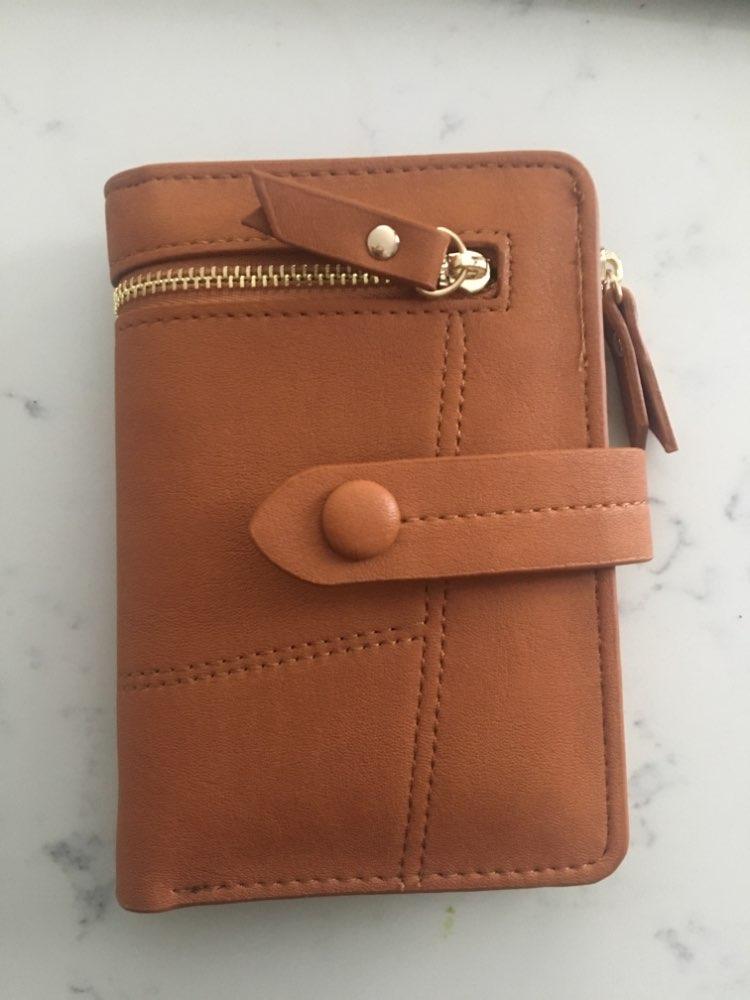 Fashion Lady Hasp Wallet  Short Clutch Solid Fashion Matte Women Wallet  Small Female Purse Short Purse photo review