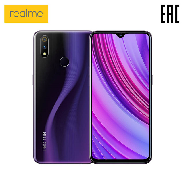 Смартфон realme 3 Pro 4+64 ГБ, Snapdragon 710 AIE, Быстрая зарядка, Двойная камера 16+5МП [официальная российская гарантия]