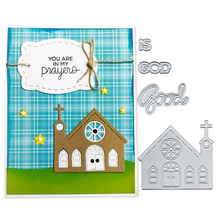 Julyarts 4PCS/SET Cute House Scrapbooking Cutting Dies for DIY Decorative Paper Cards Making