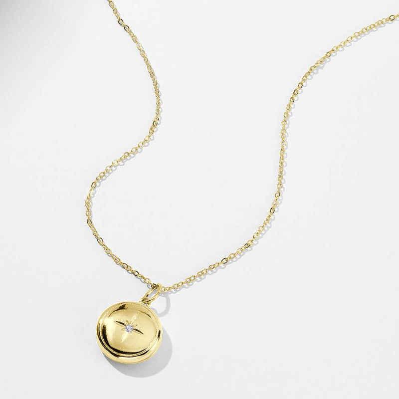 نجمة الطباعة المنجد صورة قلادة 14 k الذهب مطلي مخصص تصميم الطباعة على الطلب دروبشيبينغ