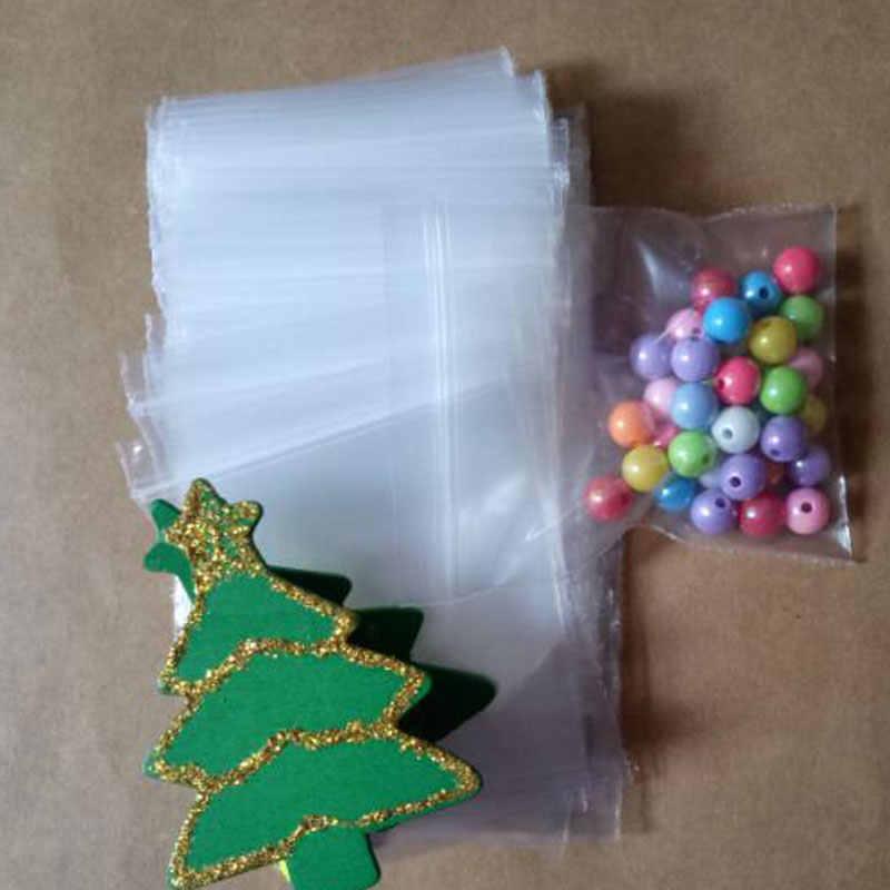 300 pcs Transparentes Pe sacos ziplock resealable plástico varejo embalagem Saco Pe auto-vedação zipper Sacos de Jóias saco de roupas