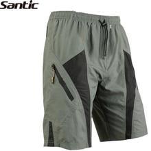 SANTIC Triathlon hommes vélo Shorts 1/2 loisirs pantalon 3D Pad doublure sous-vêtements vélo vélo Cycle Sportswear
