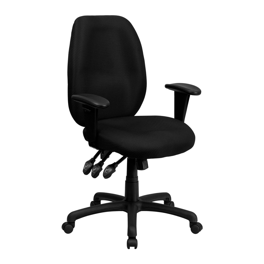 Flash Furniture High Back Black Fabric Multi-Functional Ergonomic Task Chair with Arms [863-BT-6191H-BK-GG] 1000g 98% fish collagen powder high purity for functional food