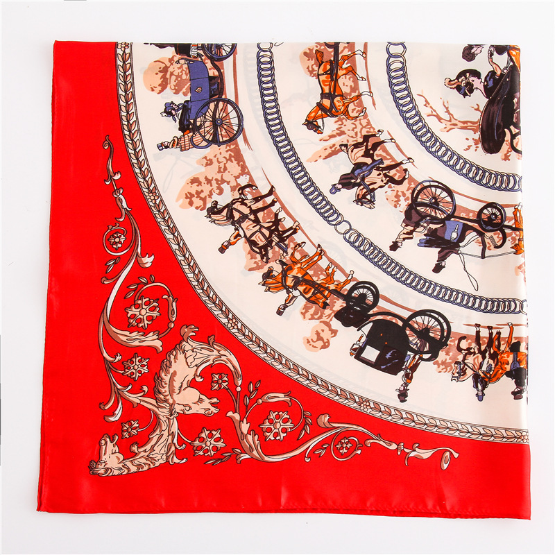 wholesale 2018 luxury brand silk scarf square lady pashmina head nech scarves for women hijabs foulard female in Women 39 s Scarves from Apparel Accessories