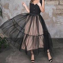 Модная фатиновая Женская юбка в горошек, специальный дизайн, юбка для взрослых, Saias, плиссированная юбка из тюля с эластичной талией,, на заказ, любой цвет