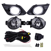 цена на Auto Fog Lights Kits Halogen Lamp Source for Nissan Rogue X-Trail 2014 4300K Yellow ABS Plastic 12V 55W Plating Light Covers