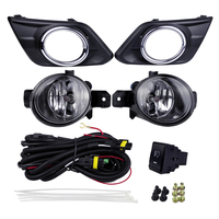 Auto Fog Lights Kits Halogen Lamp Source for Nissan Rogue X Trail 2014 4300K Yellow ABS Plastic 12V 55W Plating Light Covers
