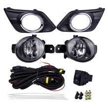 أضواء الضباب السيارات أطقم مصدر مصباح هالوجين لنيسان روج X Trail 2014 4300K الأصفر ABS البلاستيك 12 فولت 55 واط تصفيح أغطية الإضاءة