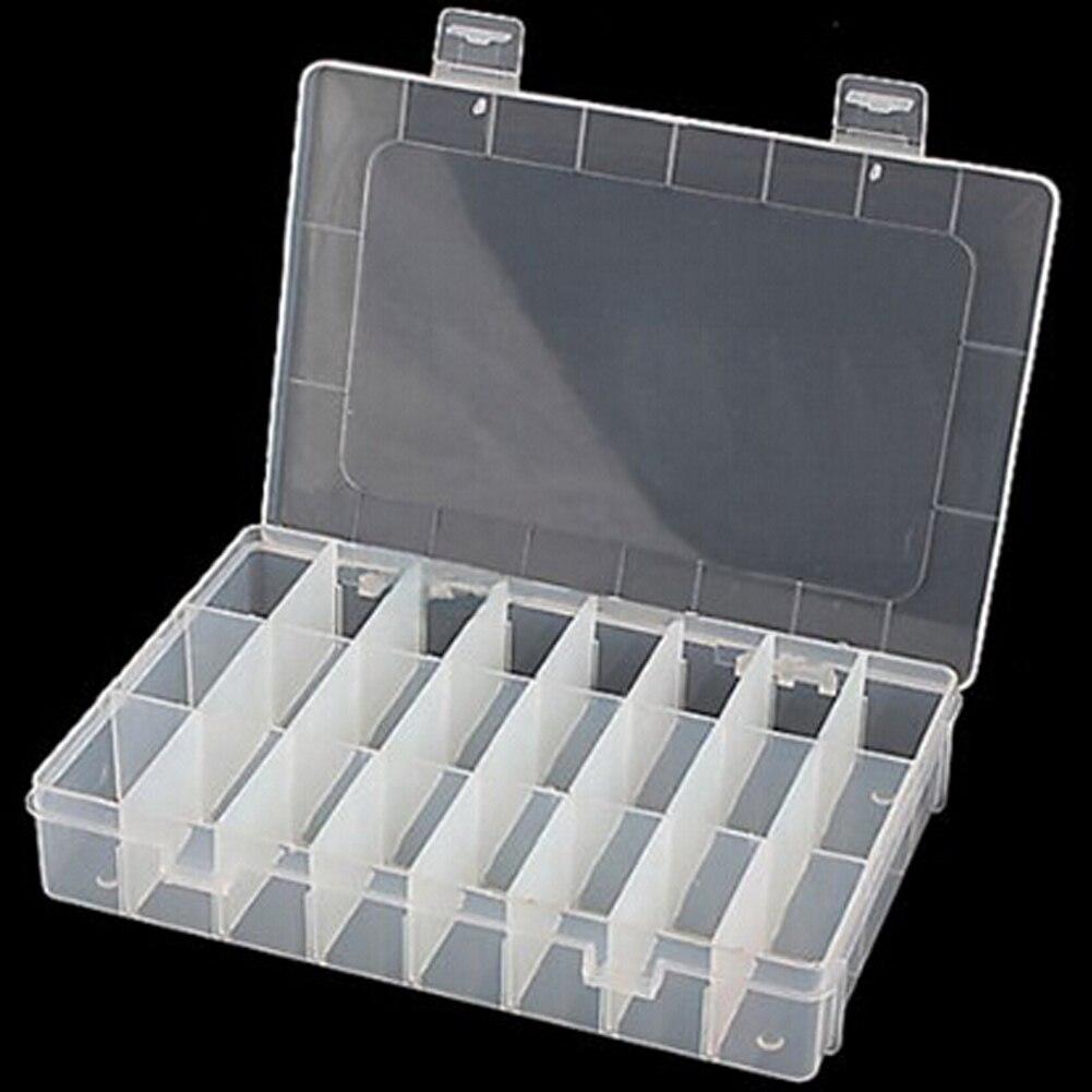 Горячая продажа 24 Ювелирная упаковка коробка для хранения Организатор Бусины коробка Пластик Регулируемый Инструмент Бункеры