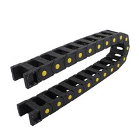 25mm x 50mm Black Plastic Cable Drag Chain Wire Carrier 103CM Length For CNC Machine Tools Transmission Chains Power Parts