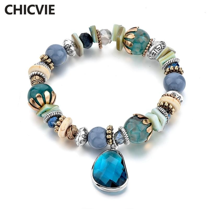 Купить chicvie голубые браслеты из нержавеющей стали для самостоятельного