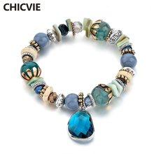 Chicvie голубые браслеты из нержавеющей стали для самостоятельного