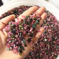 1kg Natural Watermelon Tourmaline Crystal Rubellite Rock Quartz Mineral Specimen Fish Tank Garden Flowerpot Decoration Stones