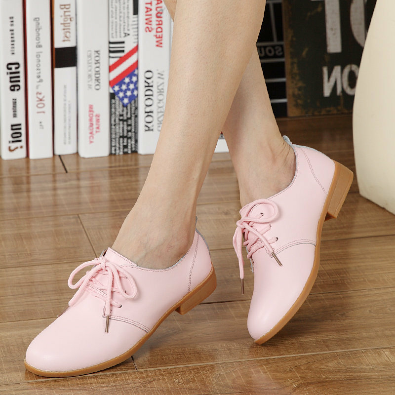 TOURSH New Genuine Leather Women Oxford Shoes Lace Up Casual Pointed Toe Flat Non Slip Office Lady Soft Fashion Moccasins Shoes pjcmg new fashion luxury comfortable handmade genuine leather lace up pointed toe oxford business casual dress men oxford shoes