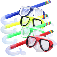 Children Safe Snorkeling Diving Masks Snorkels Sets PVC High Quality 5Colors Scuba Swimming Set Water Sports