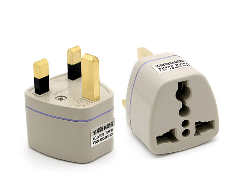 Multifunctional EU US AU to UK Plugs adapter Power Converter Plugs 2 Pin Socket EU to England Travel Charger Adapter Converter (13)