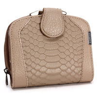 Natural Animal Skin Cowhair Genuine Leather Preppy Style Sparkle Purse Lace Zipper Hasp Long Clip Wallet