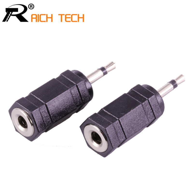 3pcs Nickle Plated Jack 2.5mm Mono Plug To 3.5mm Jack Mono Connector Audio/video Adapter