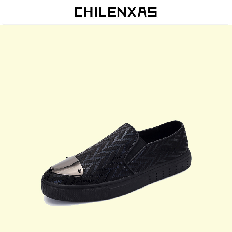 CHILENXAS 2017 Men Casual Shoes Leather Luxury Espadrilles Slip On Summer Breathable Comfortable Loafers New Fashion Slip-on chilenxas new fashion spring autumn leather men casual shoes breathable lightweight comfortable lace up solid waterproof 2017