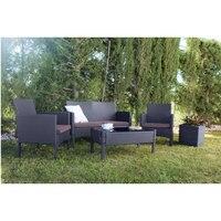 Сад и терраса. Открытый мебель модульная диван Оклахома. Состоит из 1 двуспального дивана, 2 кресла и 1 стола.