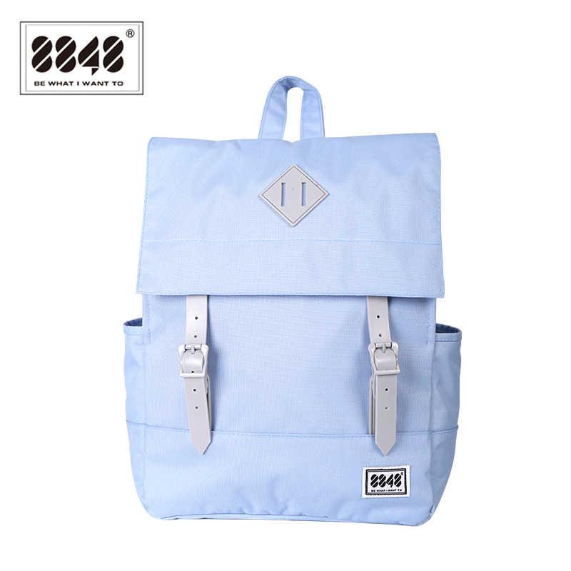 bab98b0312f0 8848 Модный женский рюкзак опрятный школьный рюкзак для студентов колледжа  рюкзак для девочек синие дорожные сумки