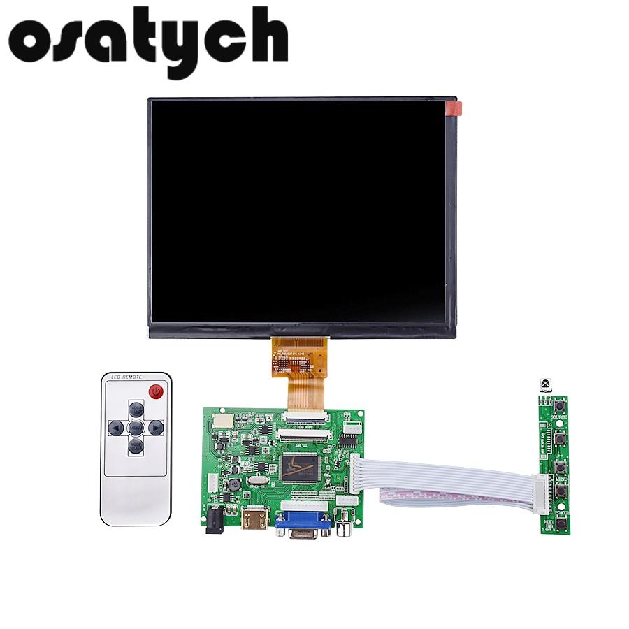 8 pouces HE080IA-01D HDMI/VGA/2AV 50PIN TTL LVDS Carte Contrôleur Moudle 1024*768 LCD Affichage Écran matrice