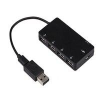 4 USB 2,0 Micro USB OTG хаб заряда адаптер Универсальное зарядное устройство для смартфонов U диска MP3 для системы Windows таблетки профессии