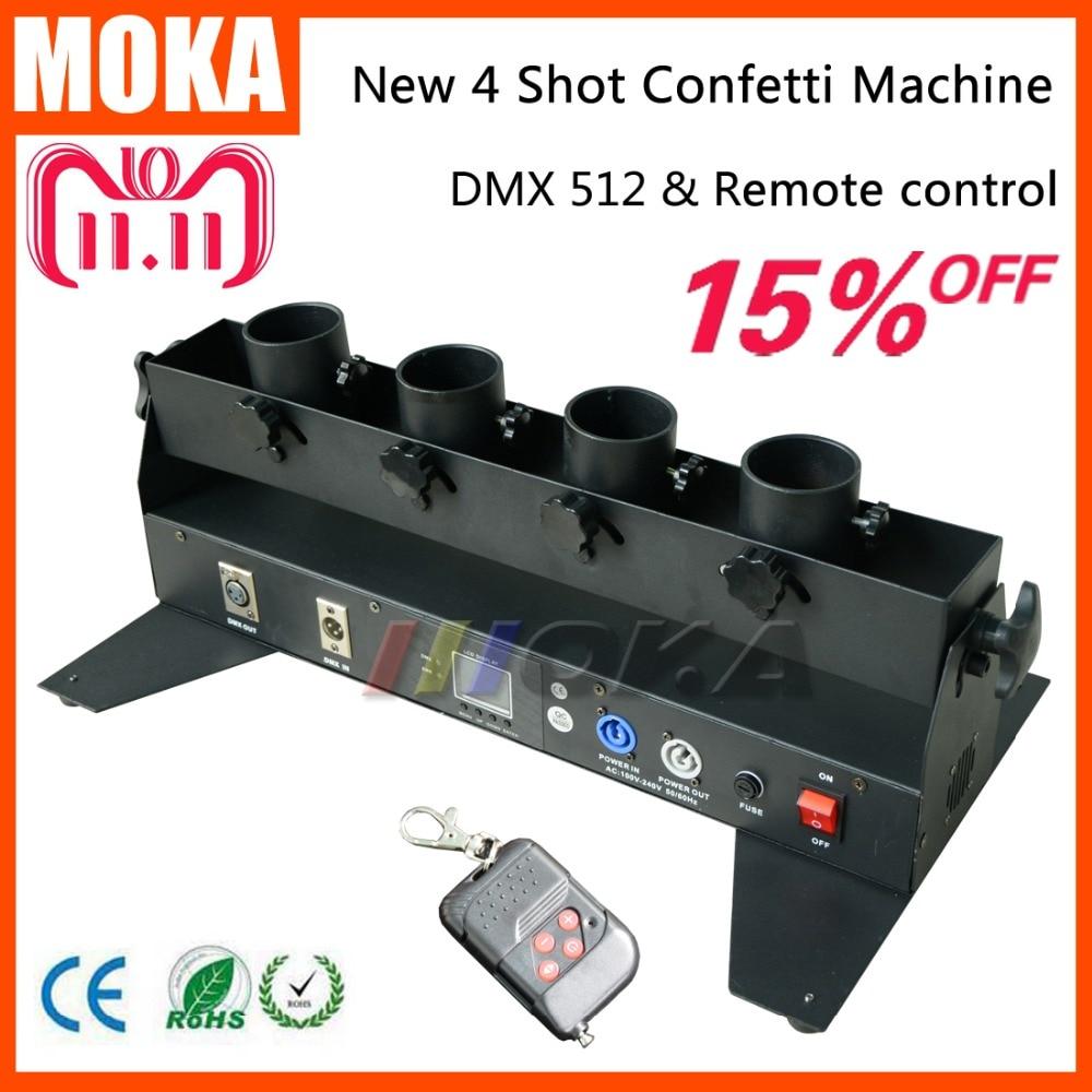 все цены на Wedding confetti machine confetti cannon DMX 512 controller 4 Holder Confetti Shooter Launcher Machine