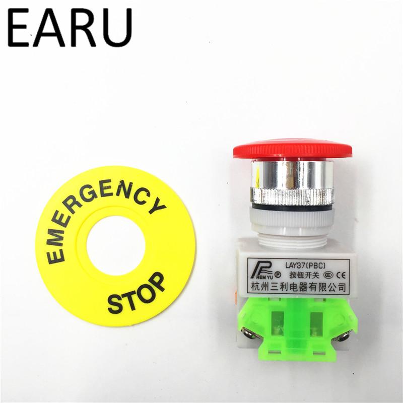 UTB89uq9X5DEXKJk43Oqq6Az3XXaY - Red Mushroom Cap 1NO 1NC DPST Emergency Stop Push Button Switch AC 660V 10A Switch Equipment Lift Elevator Latching Self Lock
