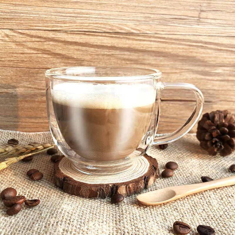 200 мл прозрачный стеклянный, с двойными стенками эспрессо капучино чашка Tasse домашний кофе латте кружка caneca Taza кафе Gato Xicara чайные стаканы
