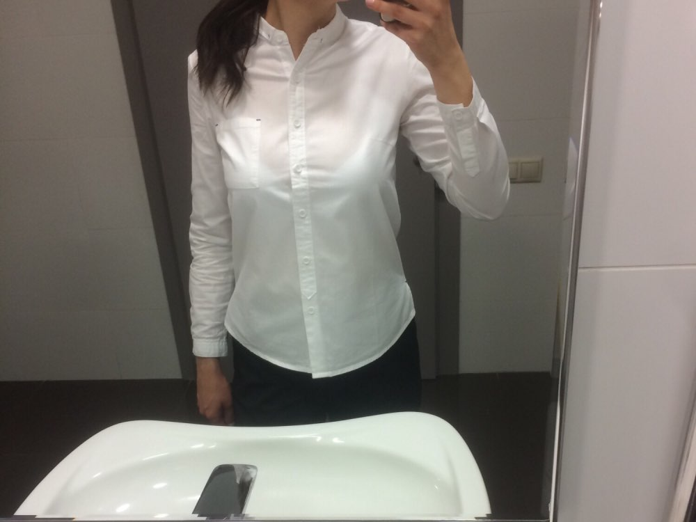 White Blouse Women'S Shirt Cotton Womens Tops And Blouses Vintage Stand Collar Blusas Mujer De Moda Haut Femme photo review