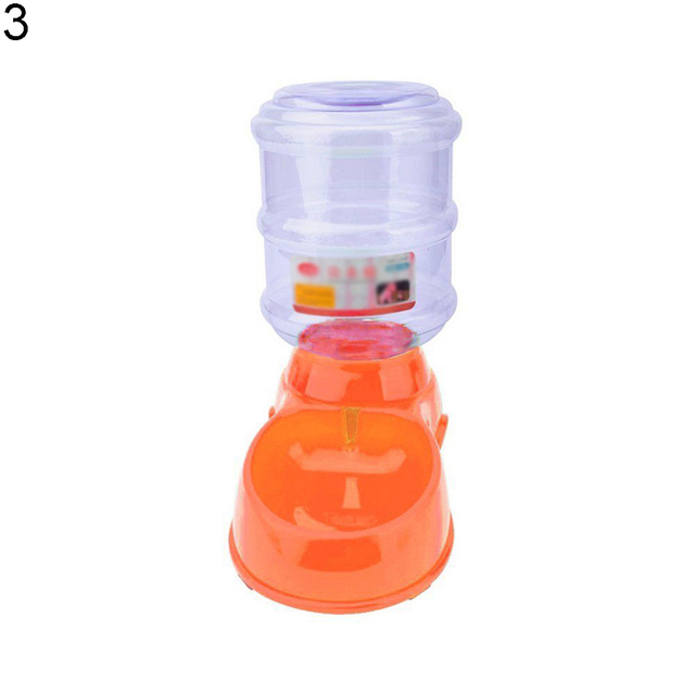 TINGHAO Large 3.5L Automatic Pet Food Drink Water Dispenser Dog Cat Feeder Bowl Dish