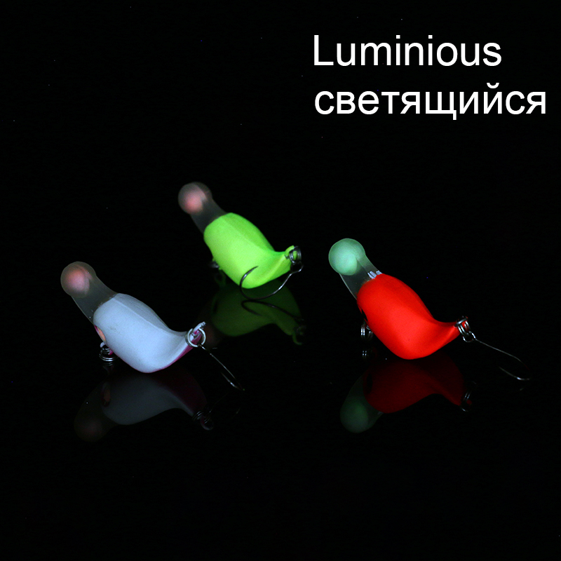 Balleo 3g 3cm High Quality Japan Mini VIB lure Crank Bait Fishing Bait Glow Grain Size Lures Single Barbed/Barbless Hook