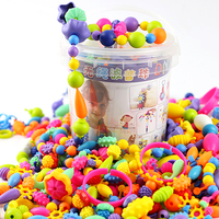 DIY Toys Girls Pop Beads Candy Jewelry Puzzle String Beads Make Up Necklace Bracelet Toys Creative