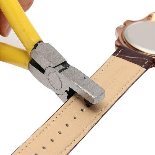 купить Universal 2mm Round Leather Belt Watch Band Hole Puncher Plier Jewelry Tool по цене 175.43 рублей