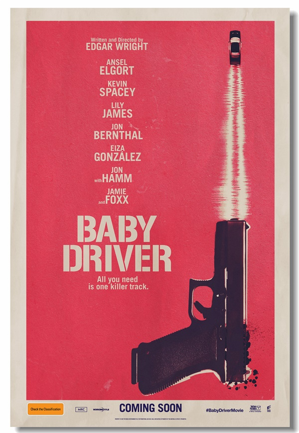 Custom Canvas Wall Paintings Baby Driver Poster Baby Driver Gun Wallpaper Bar Cafe Stickers office Wall Murals Home Decor #0104#