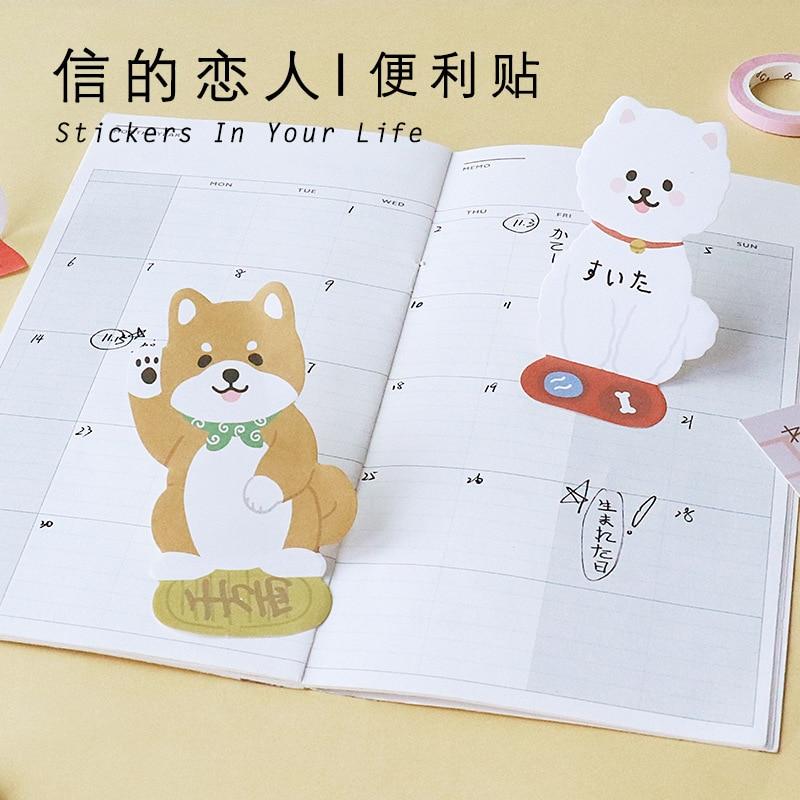 20 sets/1 lot Creative Meow and Wang Wangjun sauce Memo Pad Sticky Notes Escolar Papelaria School Supply Bookmark Post it Label