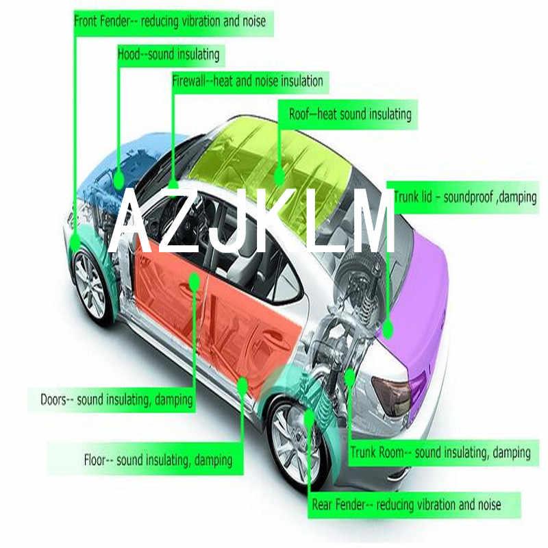2 PCS 10 MM Mobil Van 4x4 SUV Suara Deadener Knalpot Kebisingan Bukti Isolasi Tikar Untuk Bonnet (hood) Fender Pilar Firewall 50x50 cm