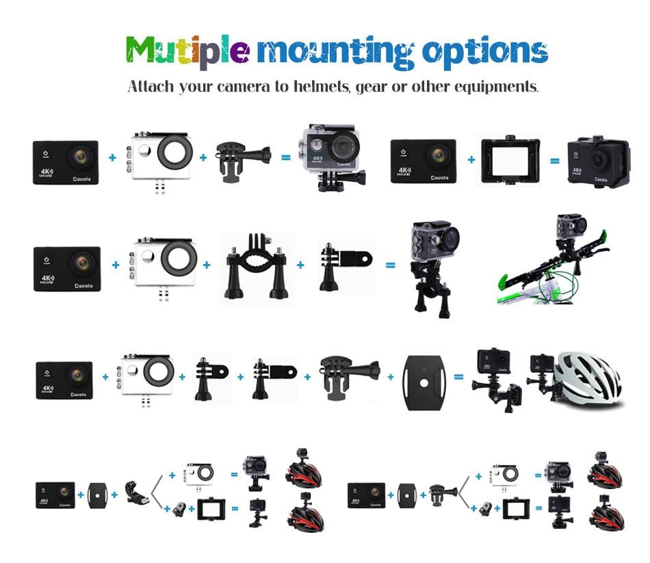 UTB89wwWvgQydeJk43PUq6AyQpXa7 - Caméra Action Ultra HD 4K Sports Wifi + Accessoires + Trépied  - Silver
