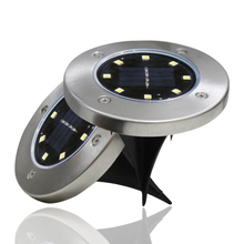 New scenery 8led solar garden Light lamp outdoor led spot For and backyard light for
