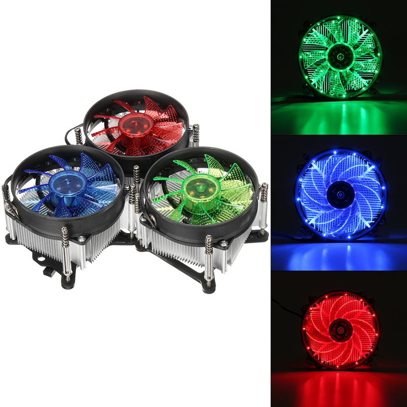 LED CPU Cooler Fan Heatsink Radiator For Intel LGA 1150/1151/1155/1156 Series High Quality Computer Cooler Cooling Fan For CPU 2 heatpipes blue led cpu cooling fan 4pin 120mm cpu cooler fan radiator aluminum heatsink for lga 1155 1156 1150 775 amd