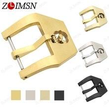 ZLIMSN 20 22 24 26mm 316L de Acero Inoxidable Sólido Hebilla Correa de Reloj de Correa de Hebilla de Oro de Plata Negro de Reparación de Reemplazo herramienta