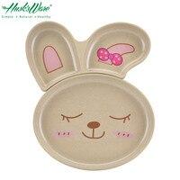 Cute Cartoon Rabbit Children Baby Dinner Plate Set Rice Husk Antibacterial Table Food Dish Plate Bowl
