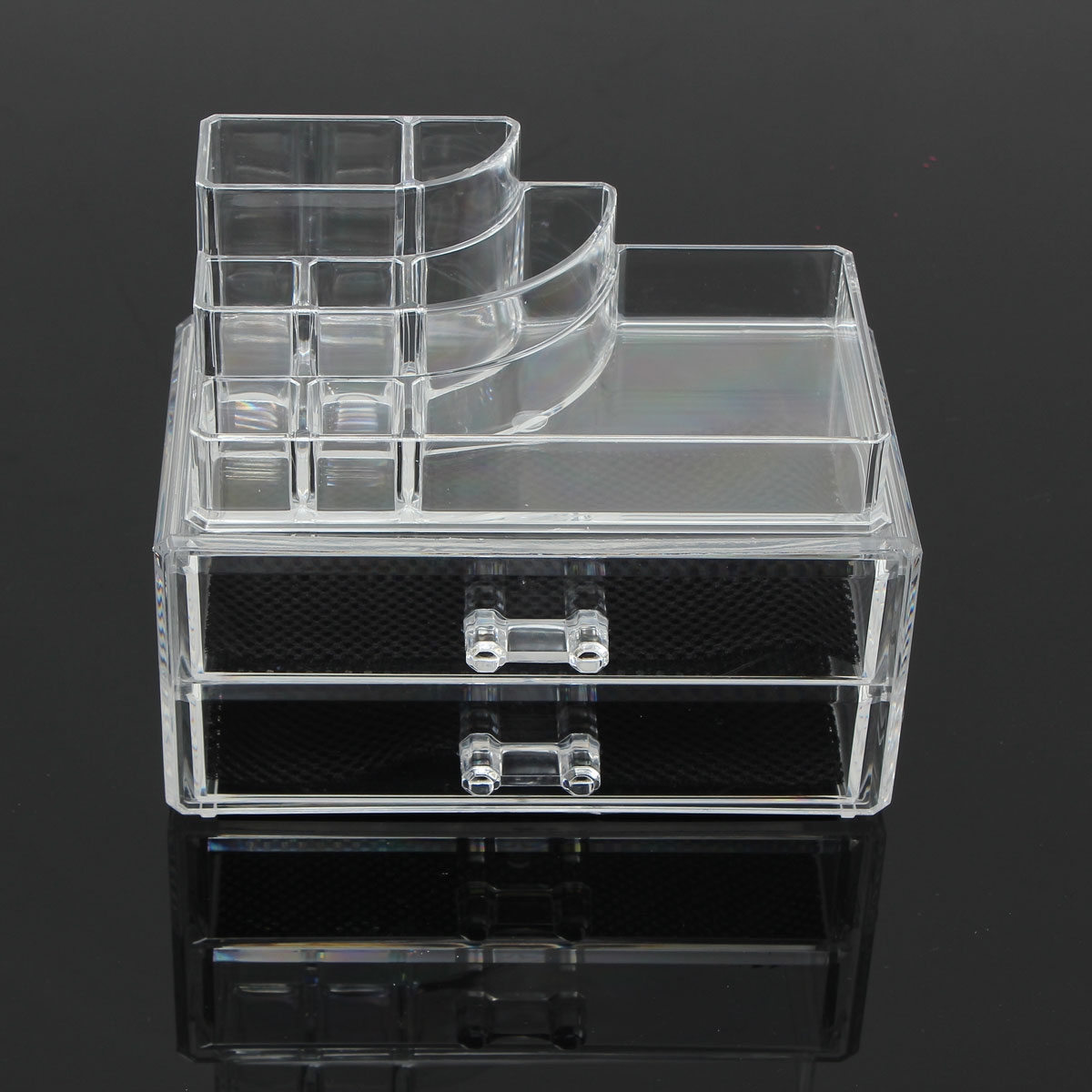 New Clear Acrylic Cosmetic Storage Box Makeup Tool Organizer Plastic Make Up Drawers Case Jewelry Display Lipstick Brush Holder display stand clear acrylic cosmetic organizer makeup case storage makeup organizer organizator makeup brush control holder