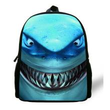 hot deal buy 12-inch great white shark backpack child animal prints animal bag kids boy school bag mochila menino age 1-6 casual daypack