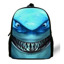 12-inch Great White Shark Backpack Child Animal Prints Animal Bag Kids Boy School Bag Mochila Menino Age 1-6 Casual Daypack цена и фото