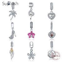 Suplush Hot Sale Genuine 100% 925 Sterling Silver Pendant Charm Beads Fit Original Brand Bracelet Wedding Jewelry for Women Beads