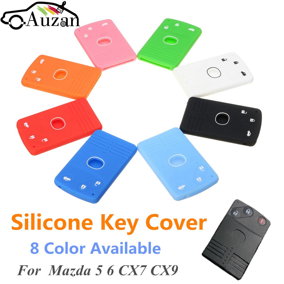цена на Silicone 3 Buttons Smart Card Key Case Cover FOB For Mazda 5 6 CX-7 CX-9 RX8 MX5