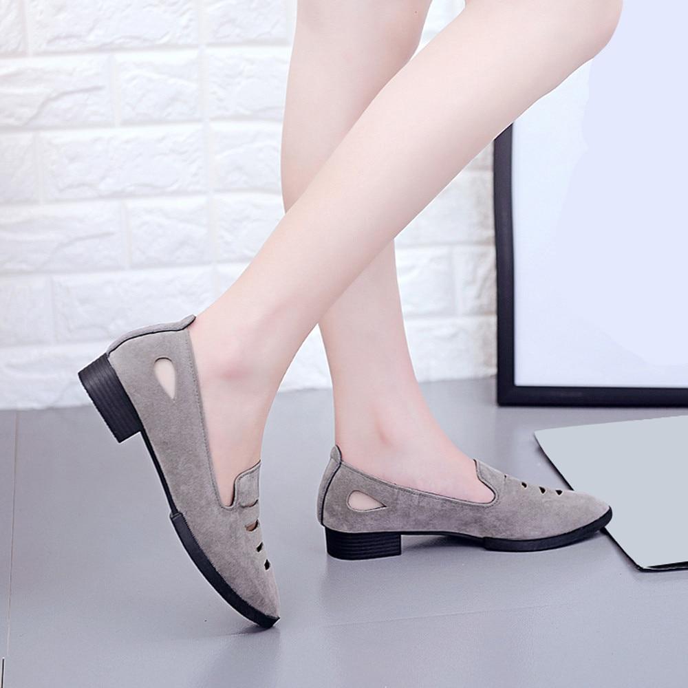 Bescheiden Frauen Mode Hohl Einfarbig Spitz Flache Ferse Flache Schuhe Sandalen Plattform Sandalen Frauen Mode 2019 Frauen Sommer üBerlegene Leistung